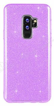 Eiroo Silvery Samsung Galaxy S9 Plus Simli Mor Silikon Kılıf