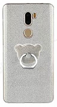 Eiroo Silvery Xiaomi Mi 5s Plus Simli Selfie Yüzüklü Silver Silikon Kılıf
