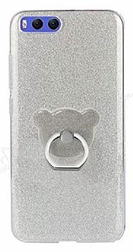 Eiroo Silvery Xiaomi Mi 6 Simli Selfie Yüzüklü Silver Silikon Kılıf
