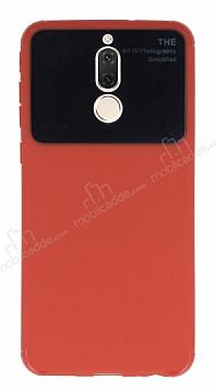 Eiroo Simplified Huawei Mate 10 Lite Kırmızı Silikon Kılıf