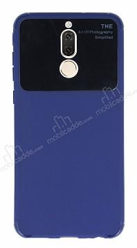 Eiroo Simplified Huawei Mate 10 Lite Lacivert Silikon Kılıf