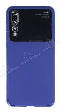 Eiroo Simplified Huawei P20 Pro Lacivert Silikon Kılıf
