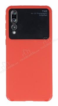 Eiroo Simplified Huawei P20 Pro Kırmızı Silikon Kılıf