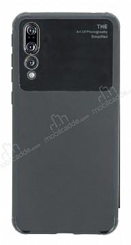 Eiroo Simplified Huawei P20 Pro Siyah Silikon Kılıf