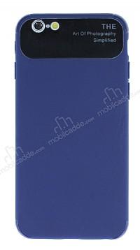 Eiroo Simplified iPhone 6 / 6S Lacivert Silikon Kılıf