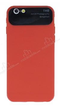 Eiroo Simplified iPhone 6 / 6S Kırmızı Silikon Kılıf