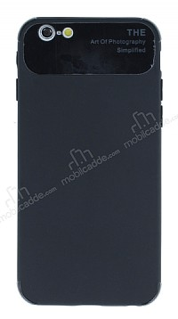 Eiroo Simplified iPhone 6 / 6S Siyah Silikon Kılıf
