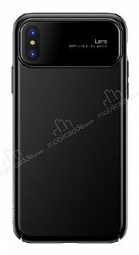 Eiroo Simplified iPhone X / XS Siyah Silikon Kılıf