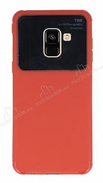 Eiroo Simplified Samsung Galaxy A8 2018 Kırmızı Silikon Kılıf