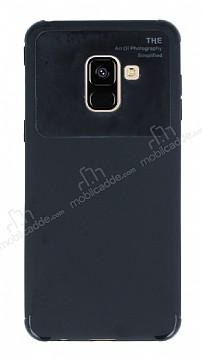 Eiroo Simplified Samsung Galaxy A8 Plus 2018 Siyah Silikon Kılıf