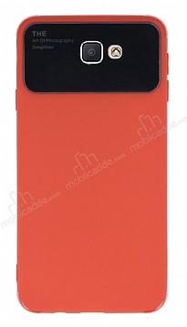 Eiroo Simplified Samsung Galaxy J7 Prime Kırmızı Silikon Kılıf