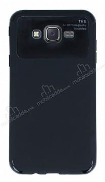 Eiroo Simplified Samsung Galaxy J7 Siyah Silikon Kılıf