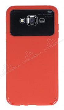 Eiroo Simplified Samsung Galaxy J7 Kırmızı Silikon Kılıf