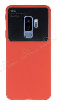 Eiroo Simplified Samsung Galaxy S9 Plus Kırmızı Silikon Kılıf