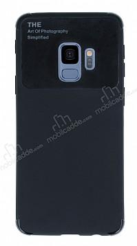 Eiroo Simplified Samsung Galaxy S9 Siyah Silikon Kılıf