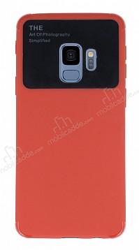 Eiroo Simplified Samsung Galaxy S9 Kırmızı Silikon Kılıf
