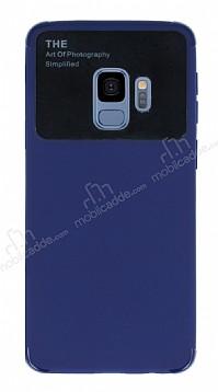 Eiroo Simplified Samsung Galaxy S9 Lacivert Silikon Kılıf