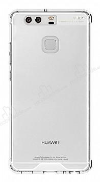 Eiroo Slim Hybrid Huawei P9 Silikon Kenarlı Şeffaf Rubber Kılıf