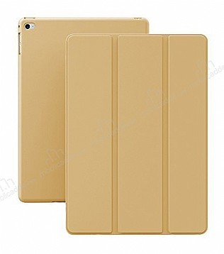 Eiroo Smart iPad Air 2 Kapaklı Gold Deri Kılıf