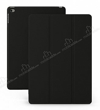 Eiroo Smart iPad Air 2 Kapaklı Siyah Deri Kılıf
