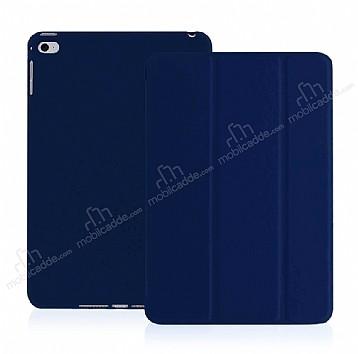 Eiroo Smart iPad mini 4 Kapaklı Lacivert Deri Kılıf