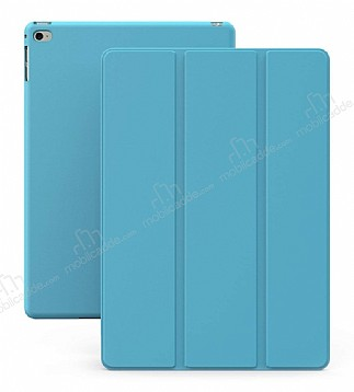 Eiroo Smart iPad Mini / Mini 2 / Mini 3 Kapaklı Mavi Deri Kılıf