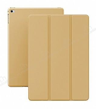 Eiroo Smart iPad Mini / Mini 2 / Mini 3 Kapaklı Gold Deri Kılıf