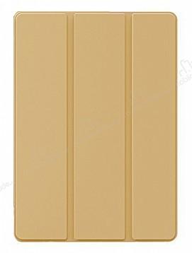 Eiroo Smart iPad Pro 10.5 Kapaklı Gold Deri Kılıf