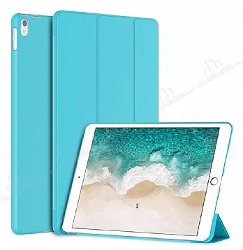 Eiroo Smart iPad Pro 10.5 Kapaklı Mavi Deri Kılıf