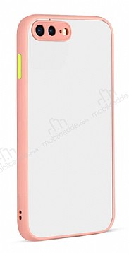 Eiroo Soft Touch iPhone 7 Plus / 8 Plus Ultra Koruma Pembe Kılıf