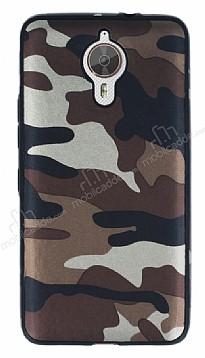 Eiroo Soldier General Mobile GM 5 Plus Kahverengi Silikon Kılıf