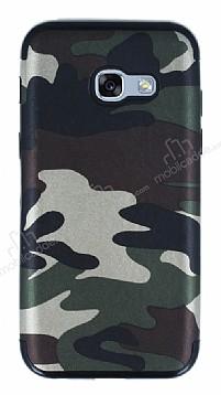 Eiroo Soldier Samsung Galaxy A3 2017 Yeşil Silikon Kılıf