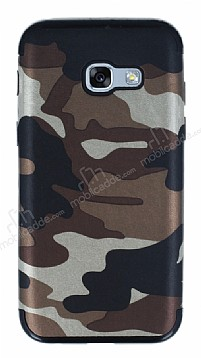 Eiroo Soldier Samsung Galaxy A5 2017 Kahverengi Silikon Kılıf