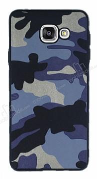 Eiroo Soldier Samsung Galaxy A7 2016 Mavi Silikon Kılıf