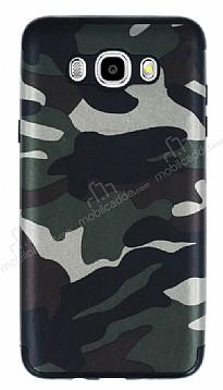 Eiroo Soldier Samsung Galaxy J7 2016 Yeşil Silikon Kılıf