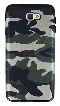 Eiroo Soldier Samsung Galaxy J7 Prime Silikon Yeşil Kılıf