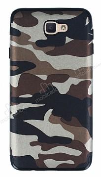 Eiroo Soldier Samsung Galaxy J7 Prime Kahverengi Silikon Kılıf
