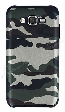 Eiroo Soldier Samsung Galaxy J7 Yeşil Silikon Kılıf