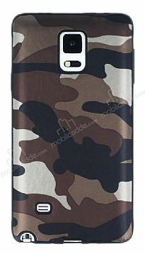 Eiroo Soldier Samsung Galaxy Note 4 Kahverengi Silikon Kılıf