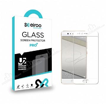 Eiroo Huawei P10 Lite Curve Tempered Glass Full Beyaz Cam Ekran Koruyucu