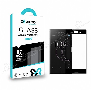 Eiroo Sony Xperia XZ1 Curve Tempered Glass Full Siyah Cam Ekran Koruyucu