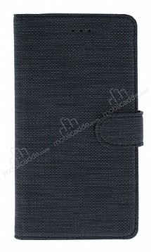 Eiroo Tabby Samsung Galaxy A7 2018 Cüzdanlı Kapaklı Siyah Deri Kılıf