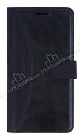Eiroo Thunder Samsung Galaxy On7 Standlı Cüzdanlı Siyah Deri Kılıf