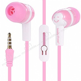 Eiroo Tin Box Mikrofonlu Kulakiçi Pembe Kulaklık
