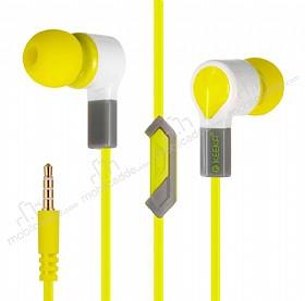 Eiroo Tooth Paste Mikrofonlu Kulakiçi Sarı Kulaklık