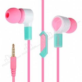Eiroo Tooth Paste Mikrofonlu Kulakiçi Pembe Kulaklık