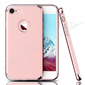 Eiroo Trio Fit iPhone 7 3ü 1 Arada Rose GoldRubber Kılıf