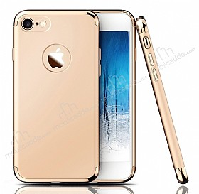 Eiroo Trio Fit iPhone 7 3ü 1 Arada Gold Rubber Kılıf