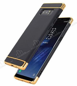 Eiroo Trio Fit Samsung Galaxy Note 8 3ü 1 Arada Siyah Rubber Kılıf