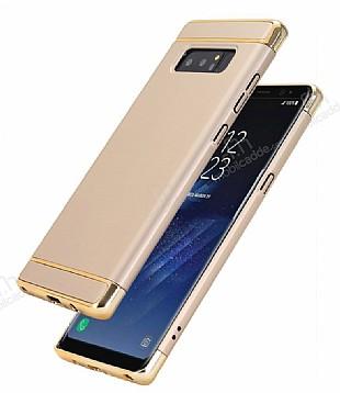 Eiroo Trio Fit Samsung Galaxy Note 8 3ü 1 Arada Gold Rubber Kılıf
